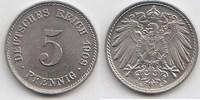 5 Pfennig 1908 E Kaiserreich  Fast Stempelglanz  30,00 EUR  zzgl. 4,00 EUR Versand