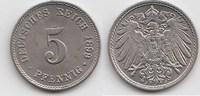5 Pfennig 1899 J Kaiserreich  Vorzüglich-Stempelglanz  35,00 EUR  zzgl. 4,00 EUR Versand