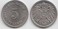 5 Pfennig 1908 A Kaiserreich  Fast Stempelglanz  18,00 EUR  zzgl. 4,00 EUR Versand