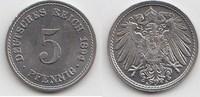 5 Pfennig 1894 A Kaiserreich  Winzige Kratzer, fast Stempelglanz  30,00 EUR  zzgl. 4,00 EUR Versand
