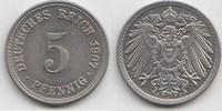 5 Pfennig 1907 F Kaiserreich  Fast Stempelglanz  35,00 EUR  zzgl. 4,00 EUR Versand