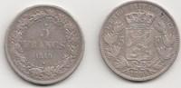 5 Francs 1849 und 1850 Belgien, Königreich 2 Stück Sehr schön  85,00 EUR  zzgl. 4,00 EUR Versand