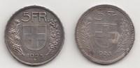 5 Franken 1923 und 1925 B Schweiz-Eidgenossenschaft 2 Stück. Sehr schön... 110,00 EUR  zzgl. 4,00 EUR Versand