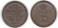 2 Skilling 1848 Dänisch Westindien Frederik VII. 1848-1863 sehr schön  40,00 EUR  zzgl. 4,00 EUR Versand