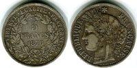 5 Francs 1870 A Frankreich Dritte Republik 1870-1940 Kleiner Randfehler... 50,00 EUR  zzgl. 4,00 EUR Versand