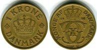 1 Krone 1926 Dänemark Christian X. 1912-1947 Sehr schön  22,00 EUR  zzgl. 4,00 EUR Versand