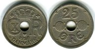 25 Öre 1929 Dänemark Christian X. 1912 - 1947 Sehr schön +  10,00 EUR  zzgl. 4,00 EUR Versand