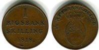 1 Skilling 1818 Dänemark Frederik VI. 1808-1839 Sehr schön  40,00 EUR  zzgl. 4,00 EUR Versand