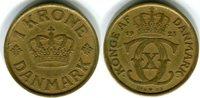 1 Krone 1925 Dänemark Christian X. 1912-1947 Kleiner Randfehler, sehr s... 18,00 EUR  zzgl. 4,00 EUR Versand