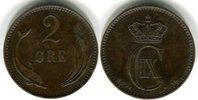 2 Öre 1891 Dänemark Christian IX. 1863-1906 Winziger Randfehler, sehr s... 15,00 EUR  zzgl. 4,00 EUR Versand