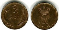 2 Öre 1883 Dänemark Christian IX. 1863-1906 Randfehler, vorzüglich  30,00 EUR  zzgl. 4,00 EUR Versand