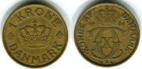 1 Krone 1934 Dänemark Christian X. 1912-1947 Sehr schön  25,00 EUR  zzgl. 4,00 EUR Versand