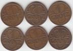 Grosz 1936-1938 Polen Republik (6 Stück) sehr schön +  20,00 EUR  zzgl. 4,00 EUR Versand