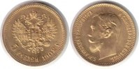 Russland 5 Rubel Russland <i>Nikolaus II.</i> <b>Gold</b> 5 Rubel 1902