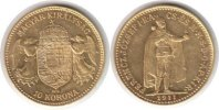Ungarn 10 Korona Ungarn <i>Franz Josef I.</i> <b>Gold</b> 10 Korona 1911 KB
