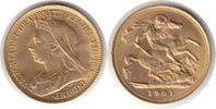 Half Sovereign 1901 Grossbritannien Victoria Gold Half Sovereign 1901 G... 235,00 EUR  zzgl. 4,00 EUR Versand