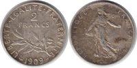 2 Francs 1909 Frankreich Dritte Republik 2 Francs 1909 sehr schön - vor... 40,00 EUR  zzgl. 4,00 EUR Versand
