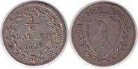 1/2 Batzen 1809 Schweiz Basel, Kanton vorzüglich +  80,00 EUR  zzgl. 4,00 EUR Versand