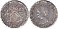 Peseta 1891 (91) Spanien Alfonso XIII. Peseta 1891 (91) PG-M Randfehler... 140,00 EUR  zzgl. 4,00 EUR Versand