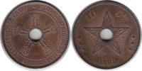 10 Centimes 1894 Kongo Leopold II. von Belgien 10 Centimes 1894 fast St... 90,00 EUR  zzgl. 4,00 EUR Versand