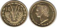 Probe 10 Francs 1956 Togo Probe 10 Francs 1956 fast Stempelglanz  195,00 EUR  +  5,00 EUR shipping