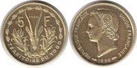 Probe 5 Francs 1956 Togo Probe 5 Francs 1956 fast Stempelglanz  195,00 EUR  zzgl. 4,00 EUR Versand