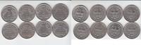 Mark 1934-1939 Drittes Reich A, D, F und G (8 Stück) sehr schön  65,00 EUR  zzgl. 4,00 EUR Versand