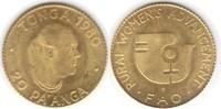 20 Pa'Anga 1980 Tonga F.A.O. Gold. fast Stempelglanz  55,00 EUR