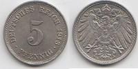 5 Pfennig 1913 E Kaiserreich  Vorzüglich-Stempelglanz  10,00 EUR  zzgl. 4,00 EUR Versand