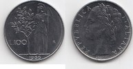 100 Lire 1966 Italien  Fast Stempelglanz  20,00 EUR  zzgl. 4,00 EUR Versand