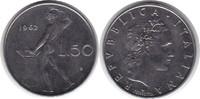 50 Lire 1962 Italien Republik ab 1946 fast Stempelglanz  20,00 EUR  zzgl. 4,00 EUR Versand