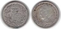 25 Cents 1915 Niederlande Wilhelmina I. 1890-1948 sehr schön  24,00 EUR  zzgl. 4,00 EUR Versand