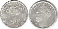 20 Francs 1935 Belgien Leopold III. 1934-1950 winz. Kratzer, vorzüglich... 15,00 EUR  zzgl. 4,00 EUR Versand