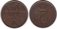 5 Öre 1913 Norwegen Haakon VII. 1905-1957 kl. Randfehler, sehr schön  8,00 EUR  zzgl. 4,00 EUR Versand