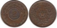 2 Centesimos 1870 Paraguay  kl. Randfehler, vorzüglich  30,00 EUR  zzgl. 4,00 EUR Versand