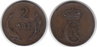 2 Öre 1875 Dänemark Christian IX. 1863-1906 winz. Randfehler, sehr schö... 22,00 EUR  zzgl. 4,00 EUR Versand