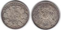 1/2 Mark 1909  J vorzüglich / vorzüglich +  18,00 EUR  zzgl. 4,00 EUR Versand
