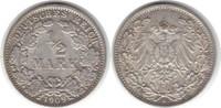 1/2 Mark 1909  J fast vorzüglich  15,00 EUR  zzgl. 4,00 EUR Versand