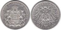 3 Mark 1911 Hamburg J kl. Randfehler, sehr schön +  19,00 EUR  zzgl. 4,00 EUR Versand