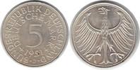 5 Mark 1951 BRD J winziger Randfehler, vorzüglich - Stempelglanz  22,00 EUR  zzgl. 4,00 EUR Versand