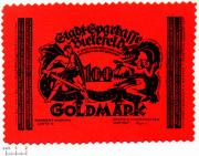 Deutschland 100 Goldmark 1923 1aUNC-Pracht...
