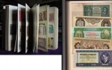 Aller Welt. Aller Welt Banknotensammlung. Sammlung von 317 Banknoten in neue saubere Steckalbum.16 Vor- u Rckseiten. 