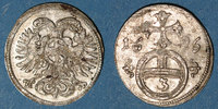 1696 EUROPA Silésie. Léopold I (1657-1705). 3 pfennig 1696. Opole (Opp... 35,00 EUR  zzgl. 7,00 EUR Versand