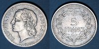 1948 B FRANZÖSISCHE MODERNE MÜNZEN 4e république (1947-59), 5 francs L... 80,00 EUR  zzgl. 7,00 EUR Versand