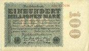 22.8.1923 DEUTSCHLAND Allemagne. Billet. 100 millions de mark 22.8.192... 15,00 EUR  zzgl. 7,00 EUR Versand