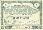 23.4.1915 FRANZÖSISCHE NOTSCHEINE Pas de Calais, Somme et Nord, Groupe... 15,00 EUR  zzgl. 7,00 EUR Versand