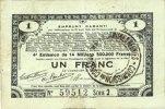 23.4.1915 FRANZÖSISCHE NOTSCHEINE Pas de Calais, Somme et Nord, Groupe... 10,00 EUR  zzgl. 7,00 EUR Versand