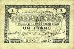 23.4.1915 FRANZÖSISCHE NOTSCHEINE Pas de Calais, Somme et Nord, Groupe... 6,00 EUR  zzgl. 7,00 EUR Versand