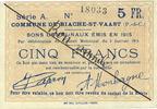 5.1.1915 FRANZÖSISCHE NOTSCHEINE Biache-Saint-Waast (62). Commune. Bil... 20,00 EUR  zzgl. 7,00 EUR Versand