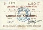 31.1.1915 FRANZÖSISCHE NOTSCHEINE Boiry-Notre-Dame (62). Commune. Bill... 19,00 EUR  zzgl. 7,00 EUR Versand
